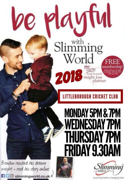 Home littleborough cc Slimming world clubs