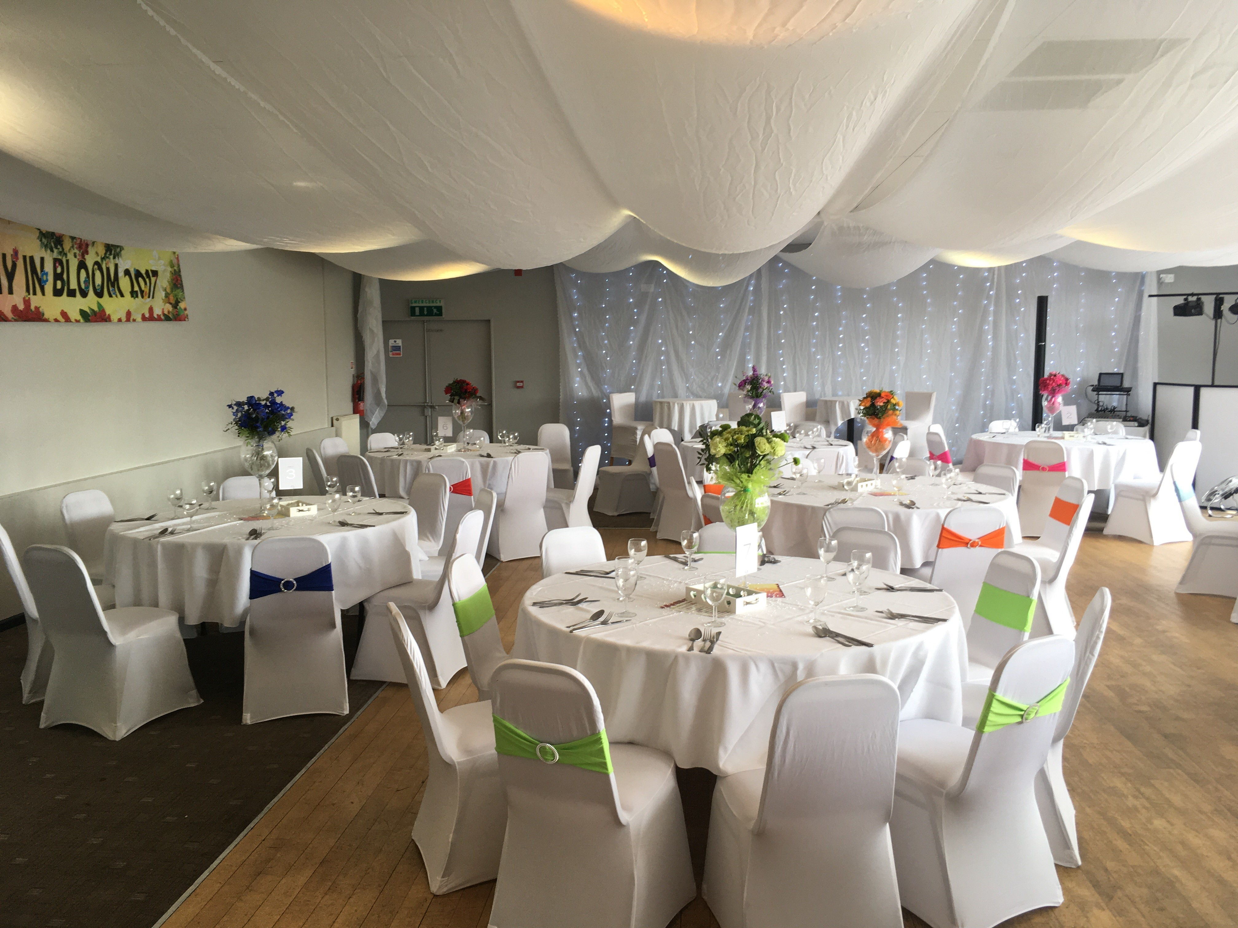 image of willow room at ladies day 2017 decorated in the theme of 'flowers in bloom'