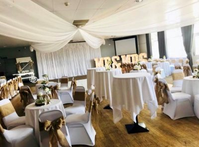 image of willow room decorated for a wedding